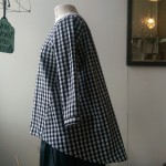 Gingham duck top $158