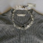Houndstooth linen tails shirt $189 (limited stock available) Crystal beads $98
