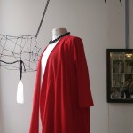 Red cotton trans-seasonal coat $198
